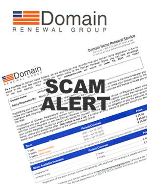 Domain name renewal scam